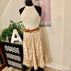 🍄Vintage Peter Nygard Silk Beaded Skirt